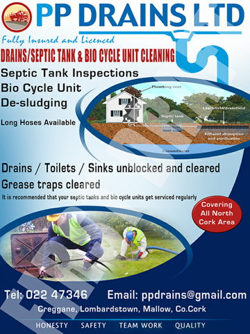 General tips on septic and maintenance | Mallow | Cork